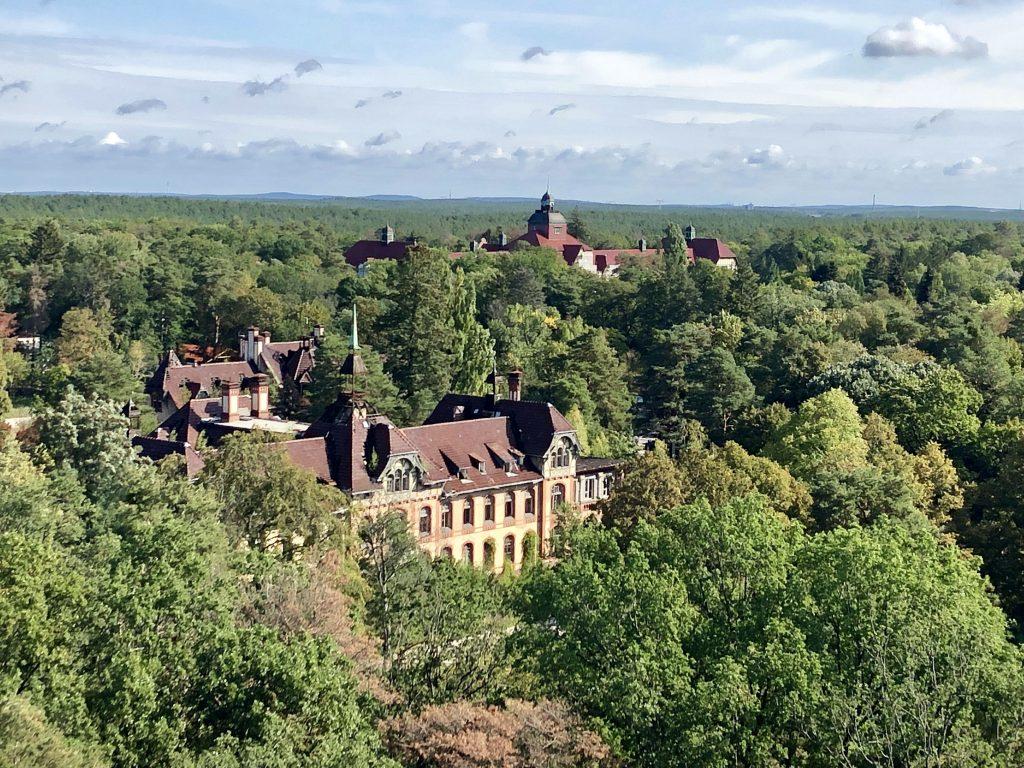 Blick vom Baumkronenpfad über die Anlage der Beelitzer Heilstätten